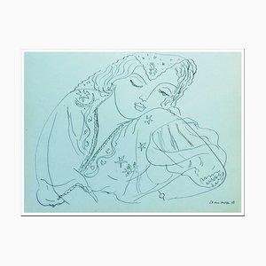 Henri Matisse (d'après) , L'endormi , lithograph