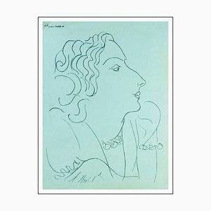 Henri Matisse (d'après) , La Rêveuse De Profil, 1943 , lithograph