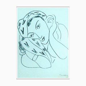 Henri Matisse (d'après), Femme Au Foulard Tacheté, 1943, litografia