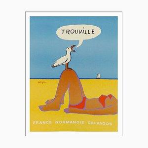 Raymond Savignac , Trouville, 1987 , Signed Offset Print