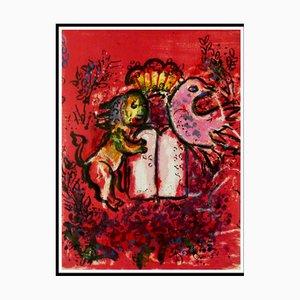 Marc Chagall , Frontispice , Vitraux De Jérusalem , 1962 , lithograph Originale