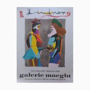 Richard Lindner , Exposition Galerie Maeght, 1978 , Affiche Lithographique