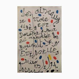 Litografia Joan Miro, Poème Pour Dorothea Tanning, 1977