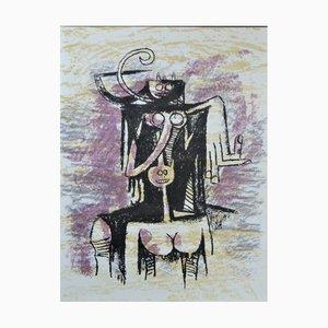 Wilfredo Lam, Composition, 1974, Originale Lithographie