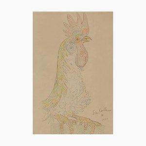 Jean Cocteau, Hahn, 1956, Lithographie
