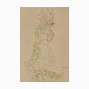 Jean Cocteau , Rooster, 1956 , Lithograph