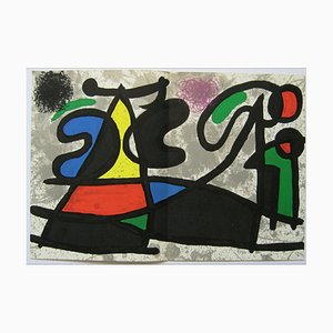 Joan Miro , Composition, Behind the Mirror, 1970 , Lithograph