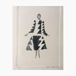 Sonia Delaunay (after) , Dress, Rhythms and Triangles , lithograph