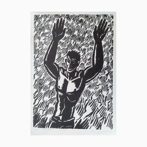 Frans Masereel (1889 ,1972) , ''l'appel'', 1950, Gravure Sur Bois