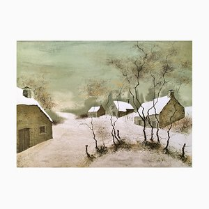 Bernard Charoy , Snow, Original Signed Lithograph