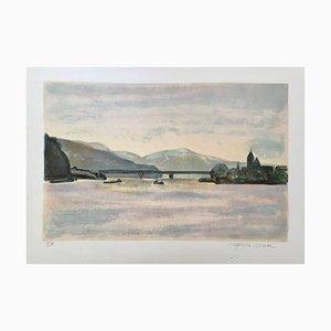 Roger Forissier , the Seine, 1990 , Original Hand Signed Lithograph