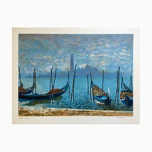 Jean Keime , Venise , lithograph original signature Au Crayon