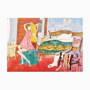 Georges Mathieu , Autograph Postcard
