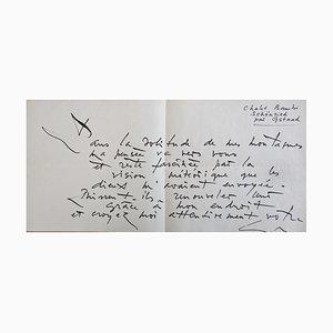 Georges Mathieu , Signed Autograph Letter