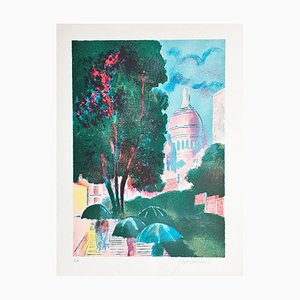 Paul Guiramand , Paris, 1975 , Hand Signed Lithograph