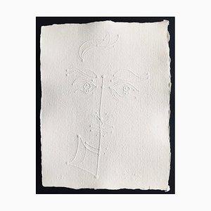 Jean Cocteau (nachher), Ohne Titel X, 1957, Signierte Prägung