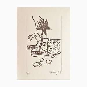Corneille , the Sleeping Crocodile, 1998, Original Lithograph