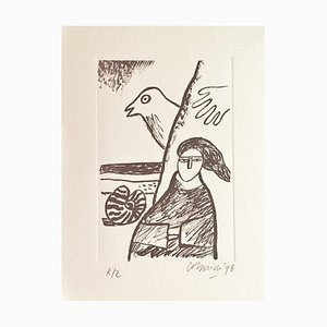 Corneille , the Shells, 1998 , Original Signed Lithograph