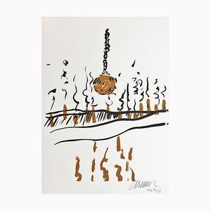 Arman Spells & Gris, gris Vi, 2002 Originale Lithographie Signiert