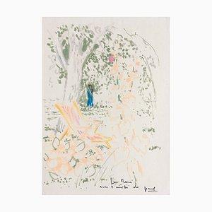 Paul Collomb, La Chaise Longue, 1975, Signierte Zeichnung