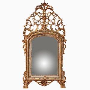 Espejo italiano antiguo tallado
