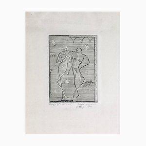 Roger Vieillard , Gallent Scene, 1952 , Original Signed Engraving