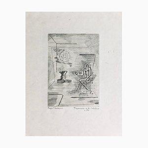 Roger Vieillard, Triumph of Solitude, Signierte originale Radierung