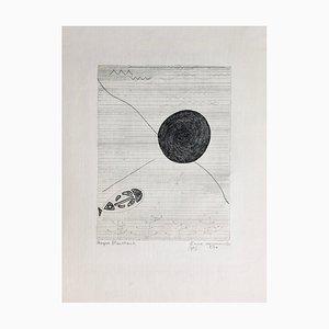 Roger Vieillard Stagnant Waters, 1953, Signierte originale Radierung