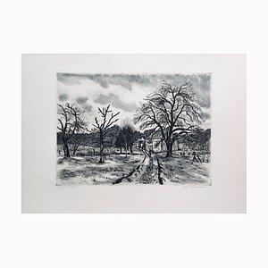 Acquaforte originale firmata André Jacquemin, L'arbre Mort, Ergal, 1935