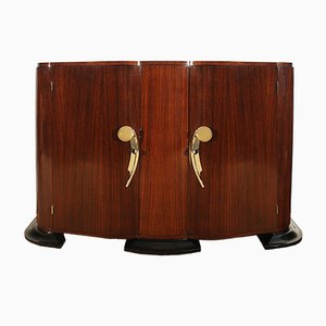 French Rounded Mahogany & Rosewood Sideboard, 1940s