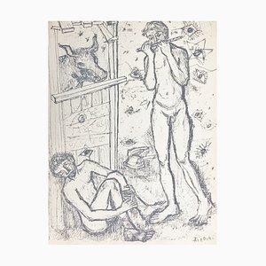 Paul Aizpiri , Io, 1950 , Hand Signed Screenprint