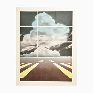 Peter Klasen, Runway, 1978, Lithographie mit Bleistift signiert
