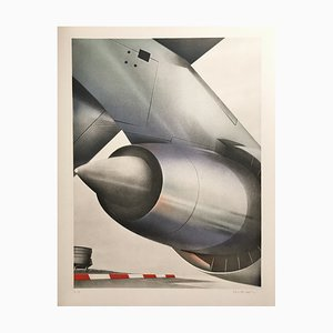 Peter Klasen , Airfield, 1978 , Lithograph Signed in Pencil