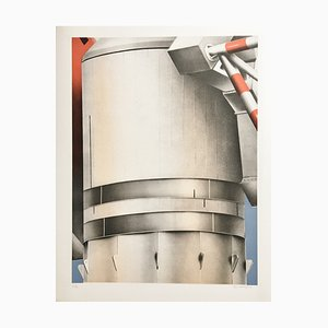 Peter Klasen , Antenne, 1978 , Lithograph Signed in Pencil