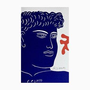 Alecos Fassianos , Untitled, Circa 1995, Original Hand Signed Linocut