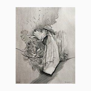 Dominique Sosolic , Fleurs, 1988 , Gravure original signature