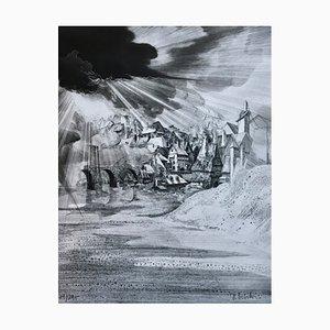 Dominique Sosolic, Le Pauvre Songe, 1986, Tiefdruck Originalunterschrift