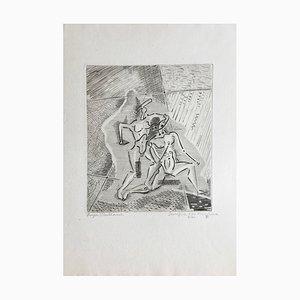 Incisione originale firmata Roger Vieillard, Sacrifice of a Minotaur