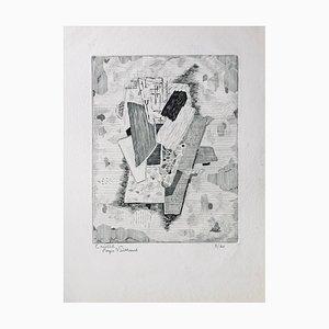 Roger Vieillard , Crystal , Original Signed Engraving