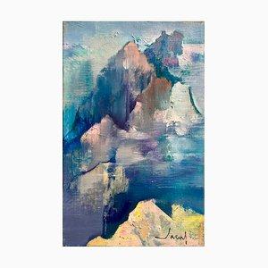 Jean,théobald Jacus , Les Montagnes , Signed Oil on Canvas
