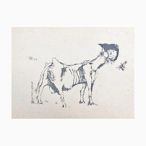 Paul Rebeyrolle, '' io '', 1950, Original Siebdruck, Signiert