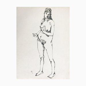 Paul Rebeyrolle , Maternité, 1951 , Hand Signed Silkscreen