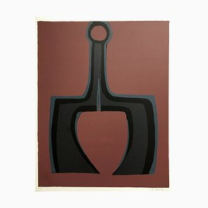 Raoul Ubac, Working the Soil, 1978, Litografia originale firmata