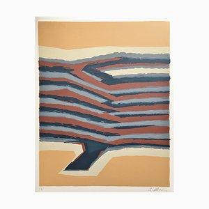 Raoul Ubac , Voies Ferrées, 1978, lithograph , signed Au Crayon