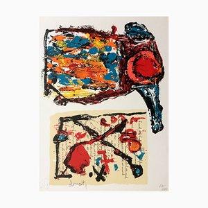 Litografia originale firmata e marcata di Jacques Doucet, Tracce of the Everyday, 1989