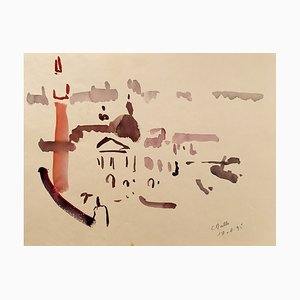 Charles Malle , Venice, 1995 , Signed Watercolor