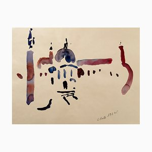 Acquarello originale firmato Charles Malle, Venezia, 1995