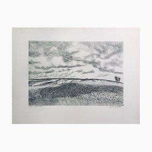 André Jacquemin , Les Terres Labourées, 1945 , Original Signed Drypoint