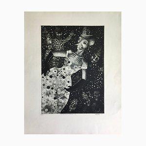 Mario Avati, Les Ridicules, 1952, Signierte originale Radierung
