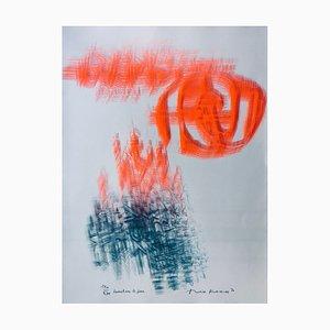 Théo Kerg , Toucher Le Feu, 1970 , lithograph original signature